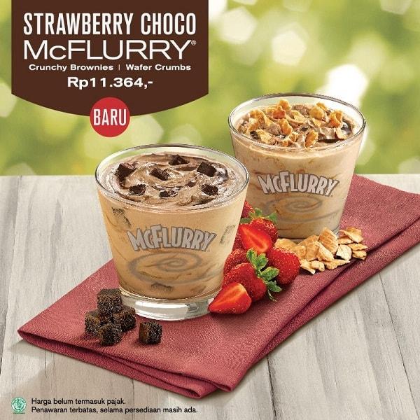 McDonald's Promo New McFlurry Strawberry Choco Hanya Rp. 11.364,-