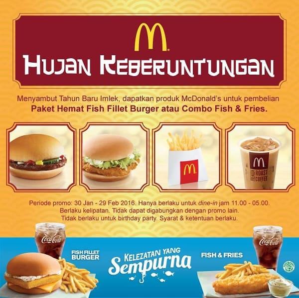 McDonald's Promo Spesial Imlek Hujan Keberuntungan