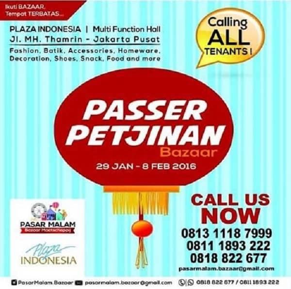 Passer Petjinan Bazaar di Plaza Indonesia