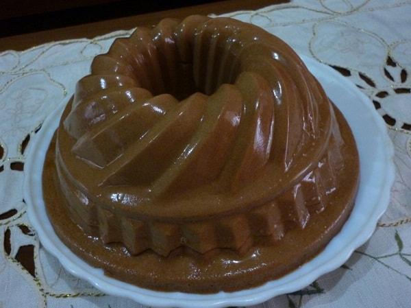 Resep Puding: Puding Busa Susu Cokelat