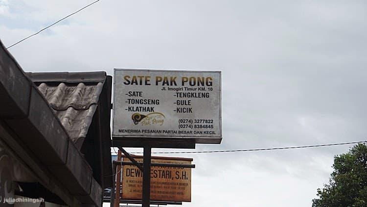 Sate Klathak Pak Pong, Warung Sate Kambing Legendaris Di Imogiri