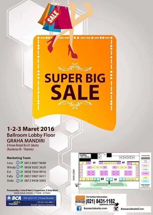 Super Big Sale di Graha Mandiri