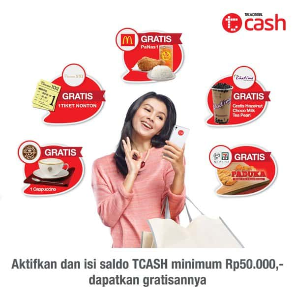 Telkomsel TCash Promo Top Up Gratis Tiket Nonton dan Menu Spesial
