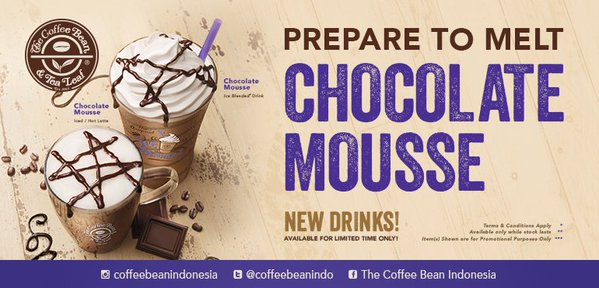 The Coffee Bean Promo New Drinks Chocolate Mousse