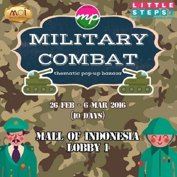Thematic Pop Up Bazaar Military Combat