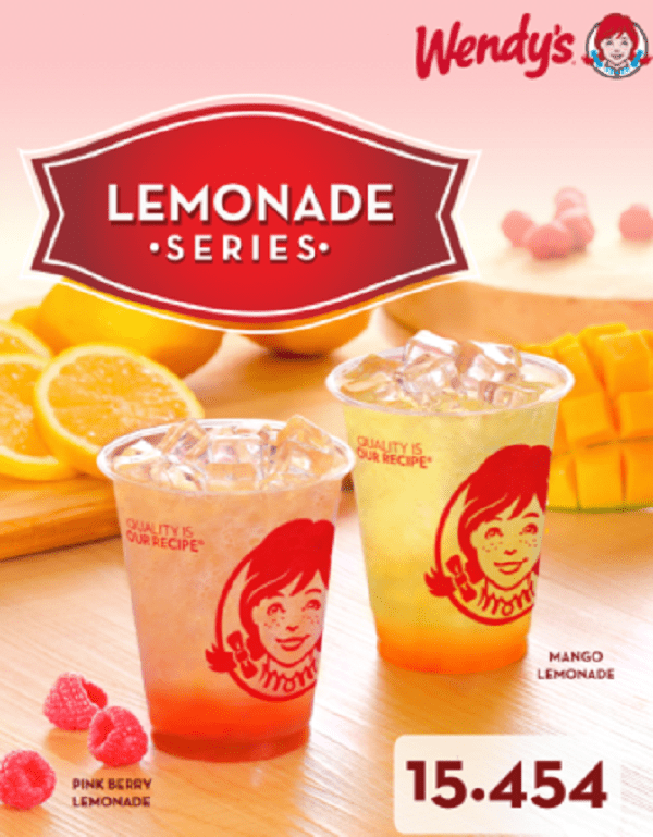 Wendy's Promo Lemonade Series Promo Hanya Rp. 15.454,-