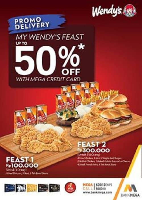 Wendy's Restaurant Promo Delivery Diskon Hingga 50%