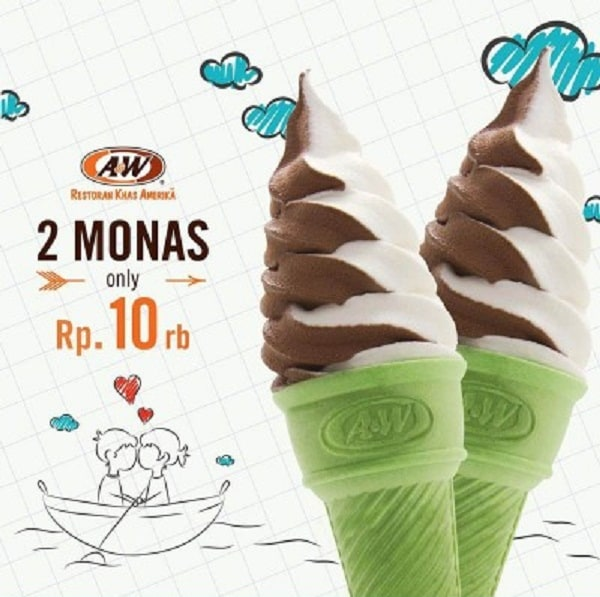 A&W Restaurant Promo Beli 2 Monas Hanya Rp. 10.000,-