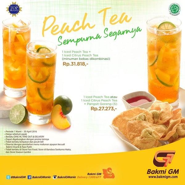 Bakmi GM Promo Peach Tea Harga Mulai Rp. 27.273,-