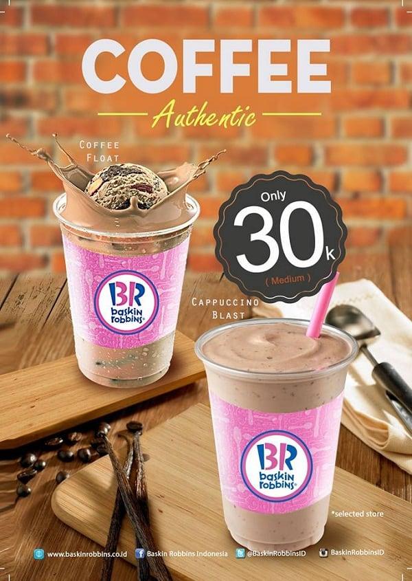 Baskin Robbins Promo Coffee Authentic Hanya Rp. 30.000,-