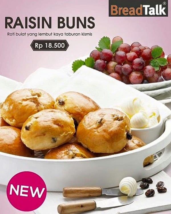 BreadTalk Promo Raisin Bun Hanya Rp. 18.500,-