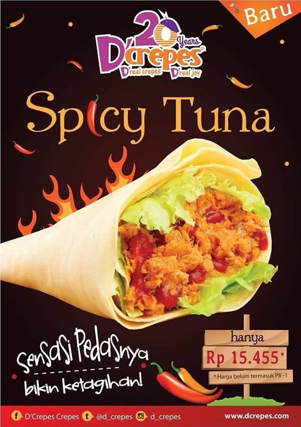 D'crepes Promo Menu Baru Spicy Tuna Hanya Rp. 15.455,-
