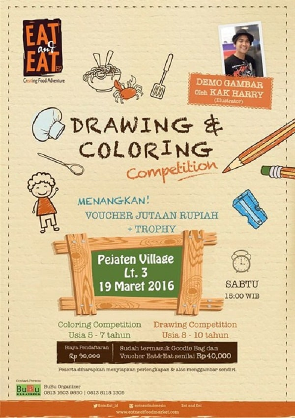 "Eat and Eat Creating Food Adventure ""Drawing & Coloring Competition"""