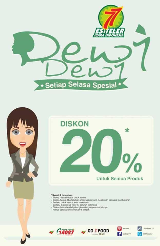 Es Teler 77 Promo Dewi-Dewi Setiap Selasa Spesial Diskon 20%