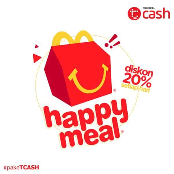 McDonald's Promo Happy Meal Diskon 20% Pakai TCash Telkomsel