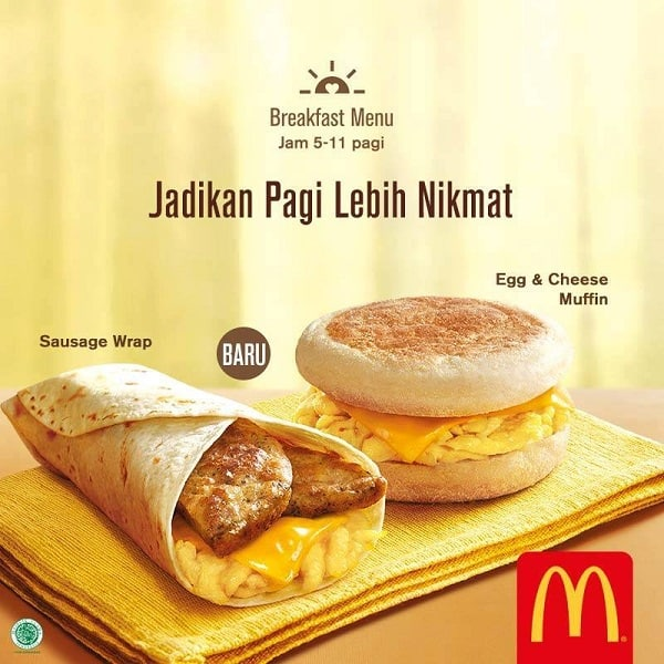 McDonald's Promo Menu Baru Sarapan Pagi Hanya Rp. 10.000,-