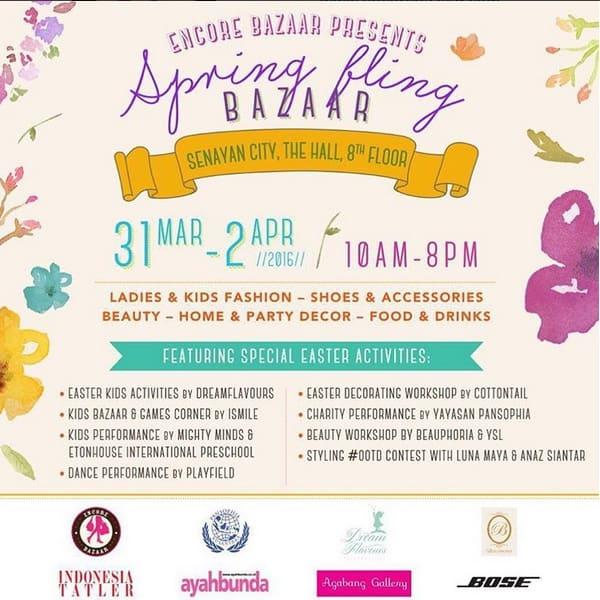 Spring Fling Bazaar di Senayan City