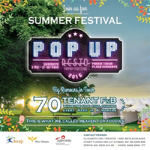 Summer Festival Pop Up Resto 2016
