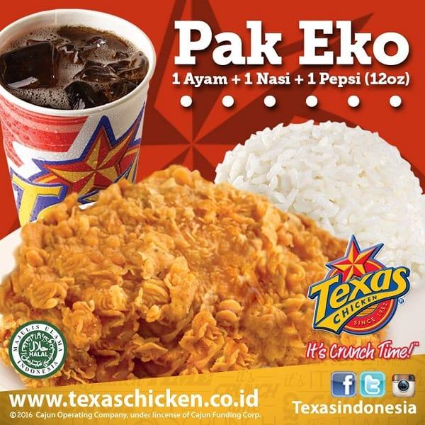 Texas Chicken Promo Pak Eko Harga Mulai Rp. 20.000an
