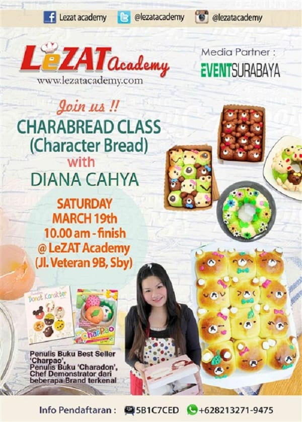 Workshop Character Bread LeZAT Academy