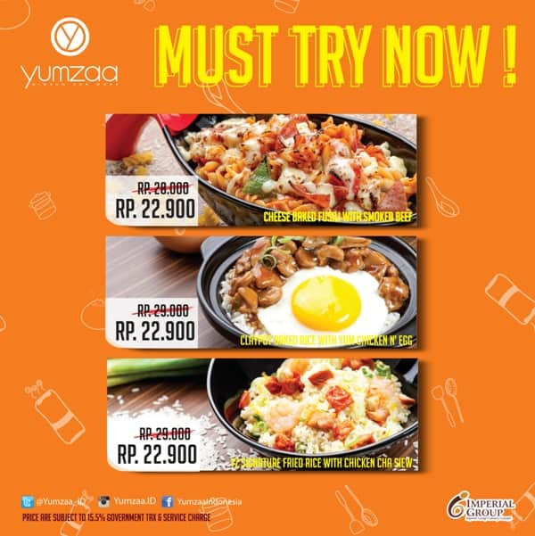 Yumzaa Restaurant Promo April 2016