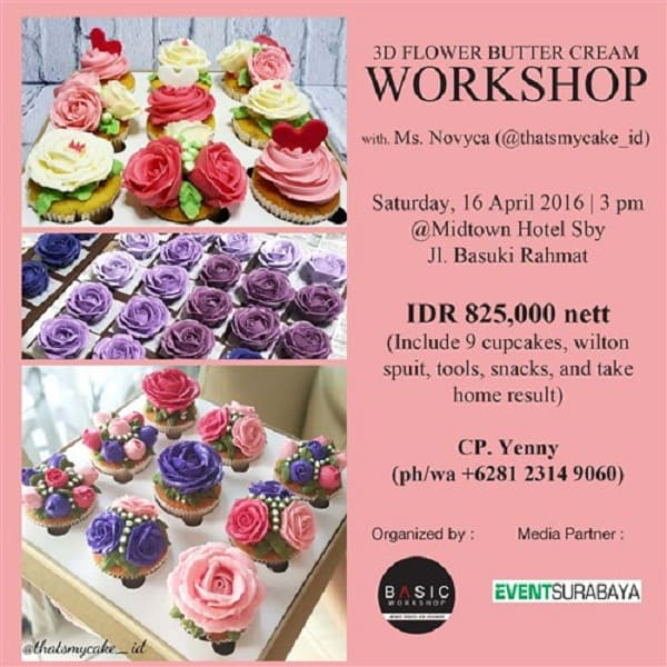3D Flower Butter Cream Workshop