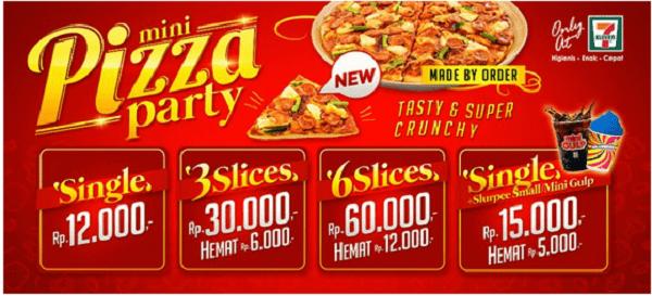 7 Eleven Promo Mini Pizza Party Harga Mulai Rp. 12.000,-