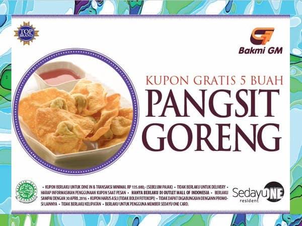 Bakmi GM Promo Membercard Gratis Pangsit Goreng