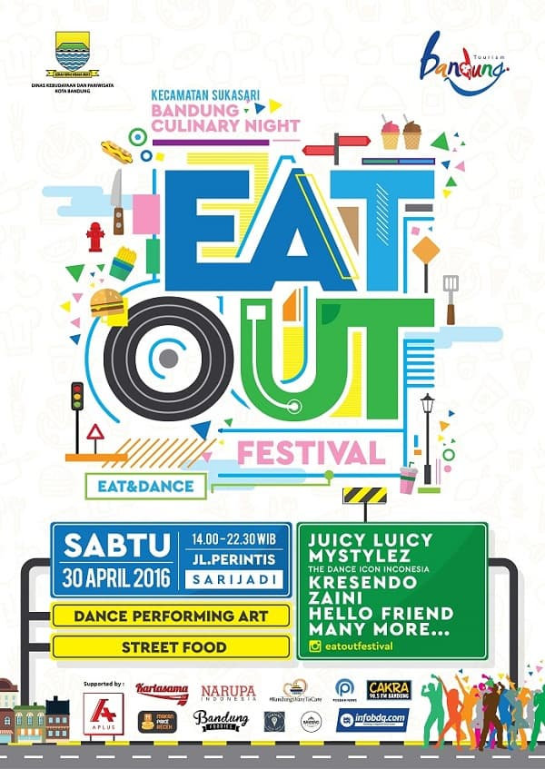 "Bandung Culinary Night: ""Eat Out Festival"""