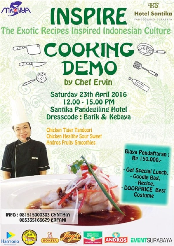 Inspire Cooking Demo by Chef Ervin