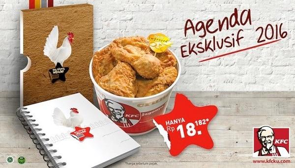 KFC Promo Agenda Eksklusif 2016 Hanya Rp. 18.182,-