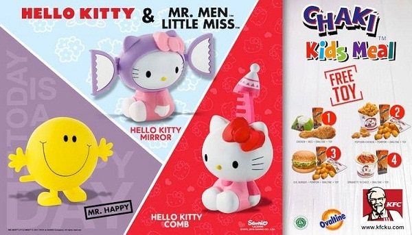 KFC Promo Menu Chaki Kids Meal Gratis Mainan Hello Kitty
