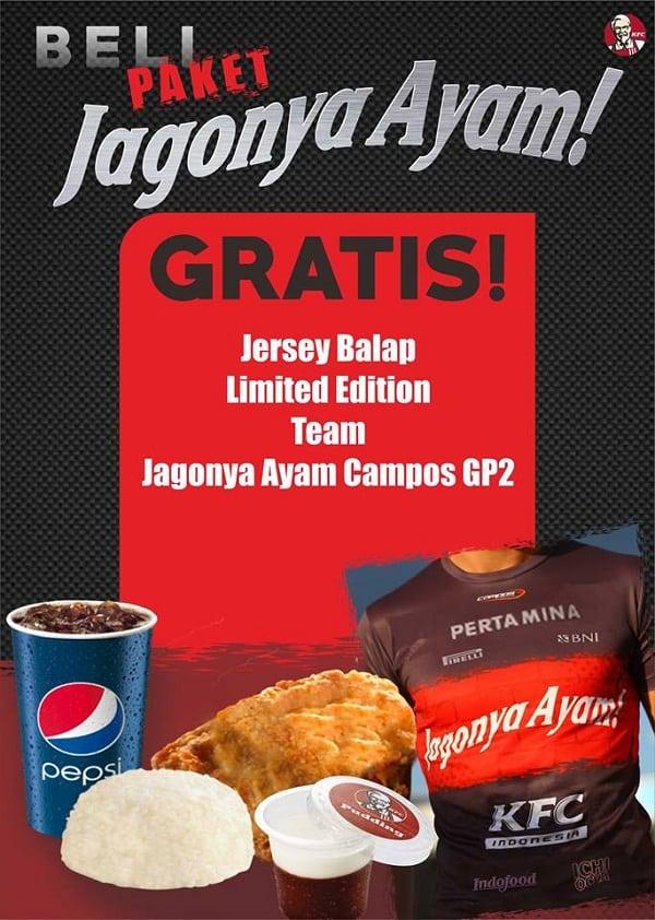KFC Promo Paket Jagonya Ayam Gratis Jersey Balap