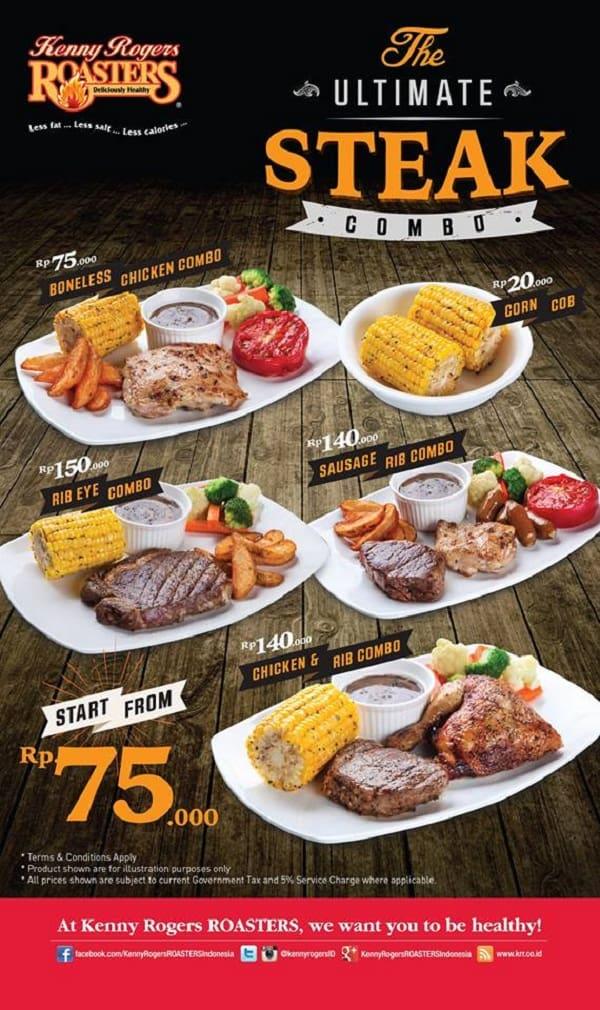 Kenny Rogers Roasters Promo The Ultimate Steak Combo Harga Mulai Rp. 75.000,-