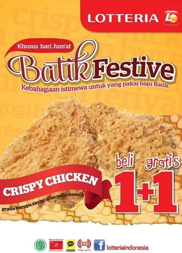 Lotteria Promo Khusus Hari Jumat Batik Festive Beli 1 Gratis 1