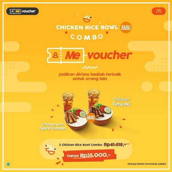 McDonald's Promo Combo Chicken Rice Bowl Hanya Rp. 35.000,-