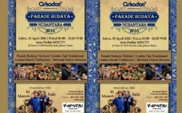 Parade Budaya Nusantara 2016