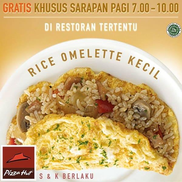 Pizza Hut Promo Sarapan Hemat Gratis Rice Omelette Kecil