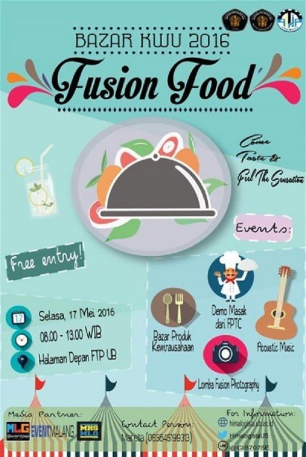 """Bazaar KWU 2016 """"Fusion Food"""""""