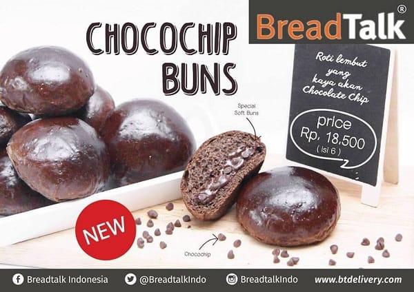 BreadTalk Promo Chocochip Buns Hanya Rp. 18.500,-
