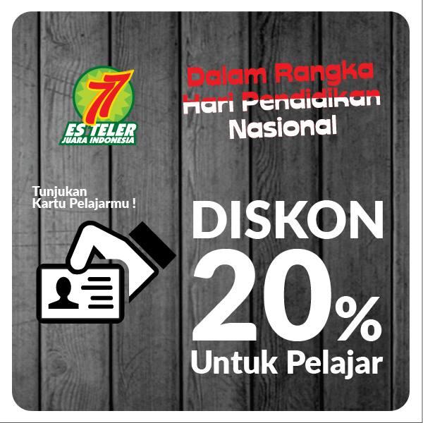 Es Teler 77 Promo Diskon 20% Untuk Pelajar