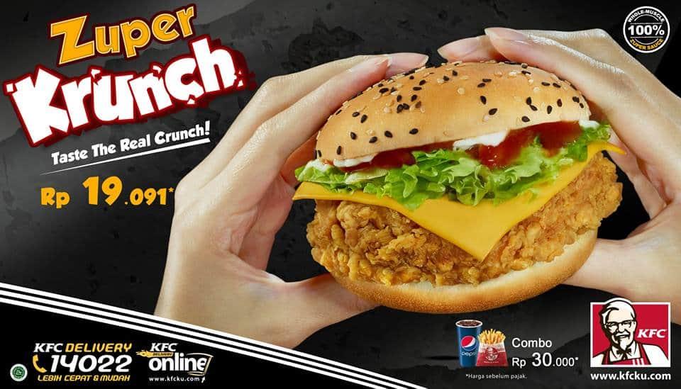 KFC Promo Zuper Krunch Hanya Rp. 19.091,-