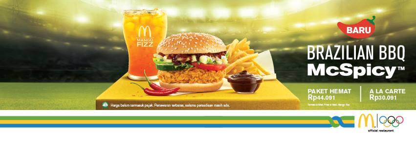 McDonald's Promo Menu Baru Brazilian BBQ McSpicy Hanya Rp. 30.091,-
