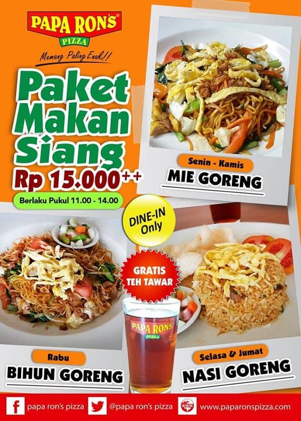 Papa Ron's Pizza Promo Paket Makan Siang Hanya Rp. 15.000,-