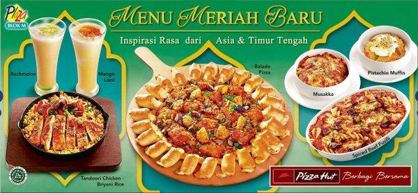 Pizza Hut Promo Menu Meriah Baru Harga Mulai Dari Rp. 50.000,-/Orang
