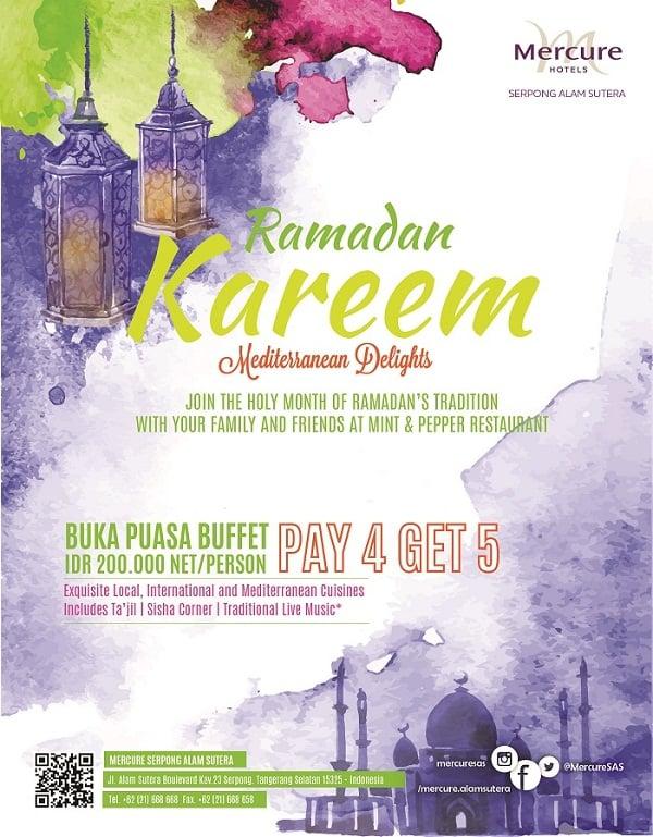 Mercure Hotels Promo Ramadan Kareem Mediterranean Delights Pay 4 Get 5