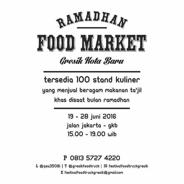 Ramadhan Food Market Gresik Kota Baru
