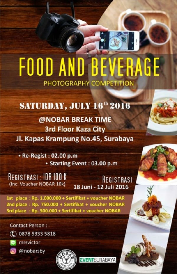 Food and Beverage Photography Competition