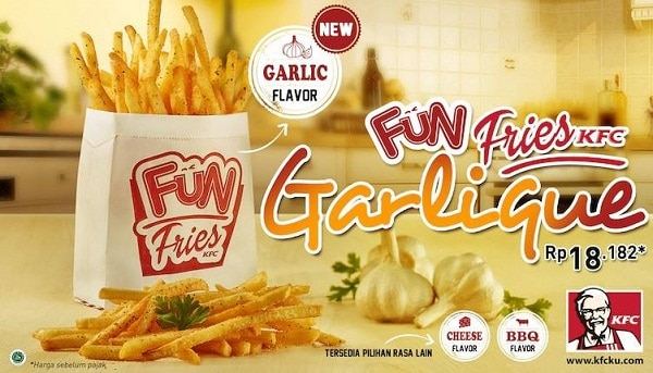 KFC Promo Fun Fries Garlique Hanya Rp. 18.182,-
