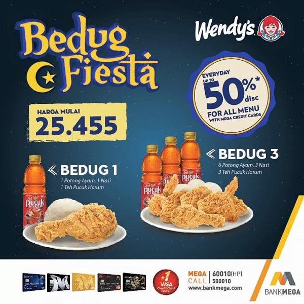Wendy's Restaurant Promo Bedug Fiesta Harga Mulai Rp. 25.455,-